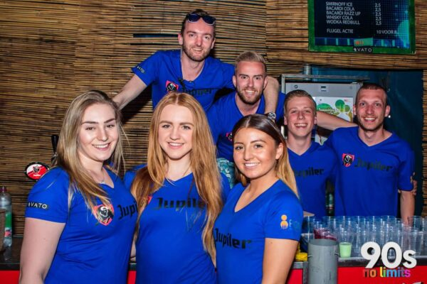 90's No Limits Focus Events bar bediening promotie PION Horeca en Promotie Bergen op Zoom