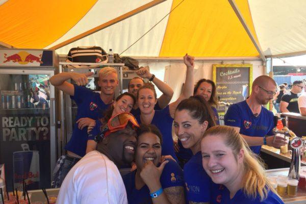 Danceboulevard 2018 Bergen op Zoom Def Rhymz bediening bar event PION Horeca en Promotie