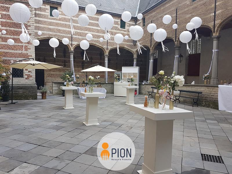 PION horeca promotie uitzendbureau Bergen op Zoom Personeel collega meewerken medewerker Ballon statafels festival bruiloft