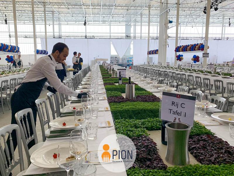 PION horeca promotie uitzendbureau Bergen op Zoom Personeel collega meewerken medewerker Bedrijfsfeest tafel dekken Duurzaam